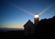 Haceta Head Light Sunset
