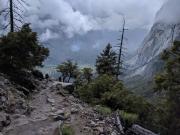 Yosemite Upper Falls Trail, Clouds