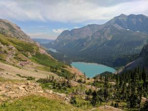 Glacial Lakes from Grinnell Glacier Traill