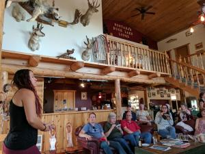 Historic presentation on Blackfeet Reservation