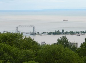 Duluth Aerial Bridge from Enger Tower