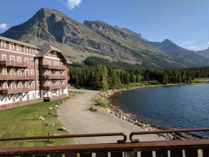 Many Glacier Hotel on Swiftcurrent Lake