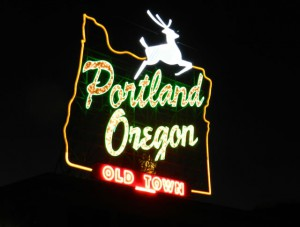 PDX Portland neon