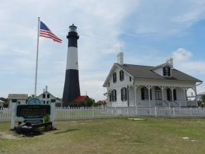 Tybee Island Light Station at the mouth of the Savannah River