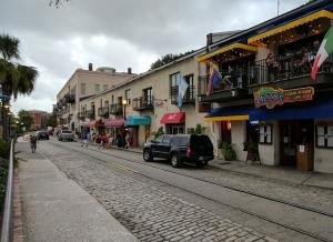 River Street along the Savannah River is lined with restaurants, bars and shops