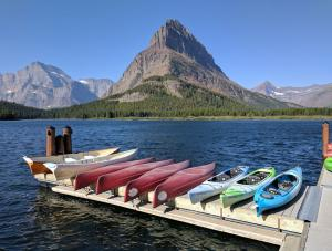 Swiftcurrent Lake, Grinnell Point from Many Glacier Hotel