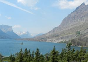 Wild Goose Island on St. Mary Lake on Going To The Sun Road